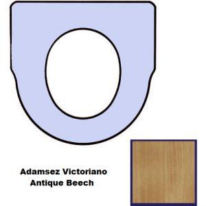 Antique Beech Inca Toilet Seat