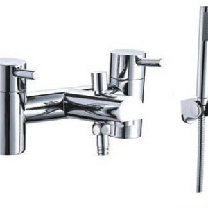 Harrow Bath Shower Mixer Plus Shower Kit & Wall Bracket Plus